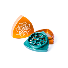 "4-part-Grinder, Orange / Green - ""Om"""