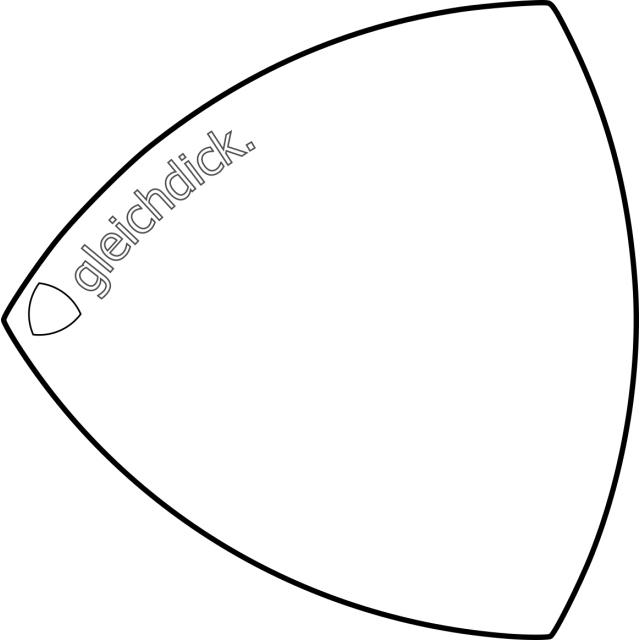 Laserengraving Gleichdick-Logo
