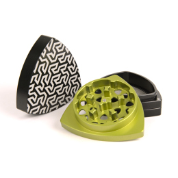 "4-part-Grinder, Black/Lime - ""Gosper"""