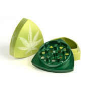 "3-part-Grinder, Limegreen/Green - ""WeedLeaf"""