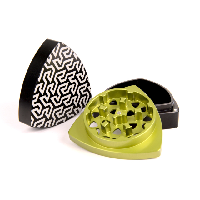 3-part-Grinder, Black/Lime - Gosper