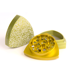 3-part-Grinder, Limegreen/Gold - Bit