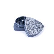 2-Teil-Gleichdickgrinder, Stahlblau- Bit