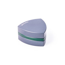 3-part-Grinder, Steelblue / Green