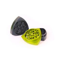 3-part-Grinder, Steelblue / Limegreen