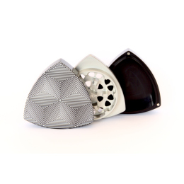 """3-part-Grinder, Black/Natural - """"Tripping Triangles"""""""