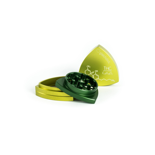 "4-part-Grinder, Limegreen / Green - ""THC"""