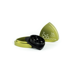 3-part-Grinder, Limegreen / Black - THC