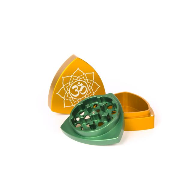 3-part-Grinder, Orange / Green - Om