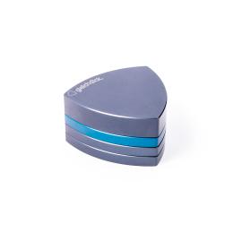 4-Teil-Grinder, Stahlblau / Blau