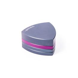 4-Teil-Grinder, Stahlblau / Violett