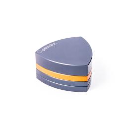 4-Teil-Grinder, Stahlblau / Orange