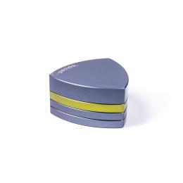 4-Teil-Grinder, Stahlblau / Limegreen